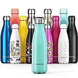 PROWORKS Bottiglia Acqua in Acciaio Inox, Senza BPA Vuoto Isolato Borraccia Termica in Metallo per Bevande Calde per 12 Ore & Fredde 24 Ore, Borraccia per Sport, Lavoro e Palestra - 750ml - Verde