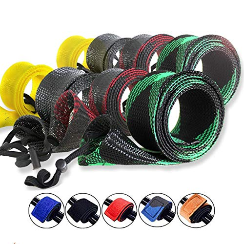 ZHENDUO OUTDOOR 8pcs/Set Rod Sock Fishing Rod Sleeve 2in Wide Rod Cover Protector with 5pcs Rod...