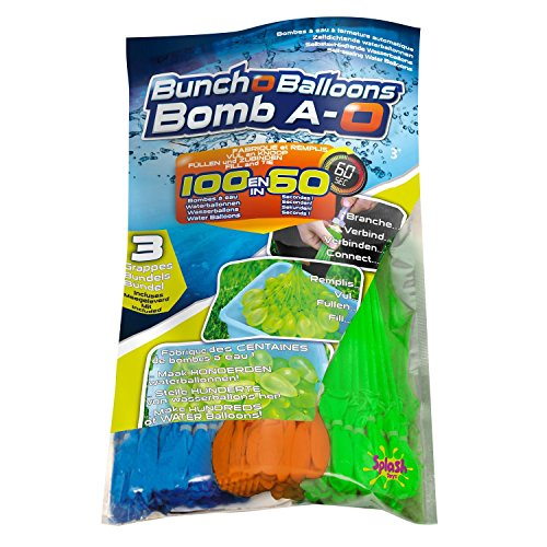 Original Bunch O Balloon Wasserbomben, 100 Wasserbomben in 60 Sekunden - selbstschließend ohne Knoten (4er Pack=420 Wasserbomben)