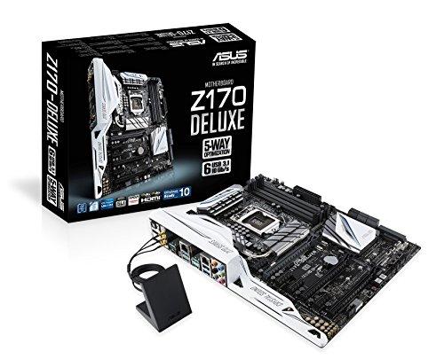 Asus Z170-Deluxe Mainboard Sockel 1151 (ATX, Intel Z170, 4x DDR4-Speicher, USB 3.1, M.2 Schnittstelle)