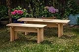 Larisa Stabil Gartentisch; unbehandeltem Erle Holz. 6 Bretter - 7