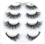 4pairs 3D Mink Lashes Natural Long False Eyelashes Dramatic Volume Fake Lashes Makeup Eyelash Extension Silk Eyelashes,L03