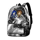 Itsfun-Neh Love Mochila estilo mochila escolar mochila con cremallera para computadora portátil para mujeres, hombres y niños, perfecto para la escuela/oficina azul
