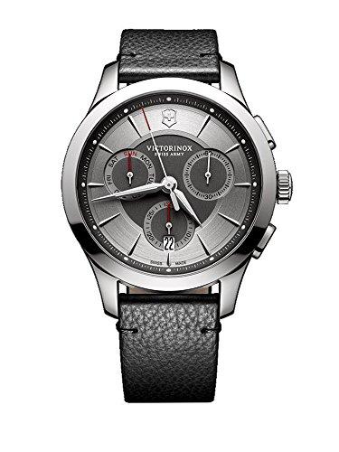 Victorinox Herren Chronograph Quarz Uhr mit Leder Armband 241748