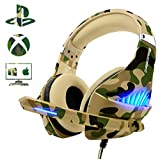 Gaming Headset for PS4 Xbox One PC, Beexcellent Deep Bass PS4 Headset with Noise Immunity Mic, LED...