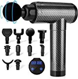 Muscle Massage Gun Deep Tissue for Athletes, Percussion Massagers for Neck Back, Shoulder Body Pain Relief, 30 Speeds Quiet Handheld Massager, LCD Touch Screen with 10 Heads