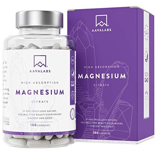 Suplemento de Citrato de Magnesio [ 400 mg ] de AAVALABS - Aumenta...