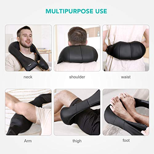 Naipo Shiatsu Back and Neck Massager with Heat Deep Kneading Massage for Neck, Back, Shoulder, Foot and Legs, Use at Home, Car, Office 8