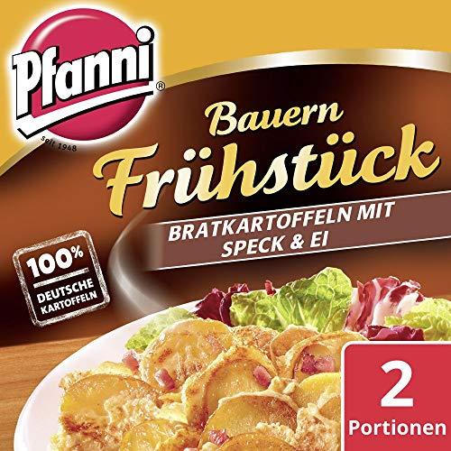 Pfanni Kartoffelfertiggericht Bauern Frühstück Bratkartoffeln mit Speck & Ei 100% deutsche Kartoffeln 400 g