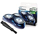 Philips Norelco HQ56 Reflex Plus Electric Razor Replacement Head with Shaver Cleaning Brush - Bundle