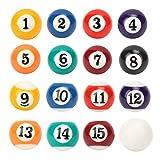 Yencoly 16 pièces Mini Boule de Billard 2.5CM, Boule de Billard 2.5CM, Jouets...