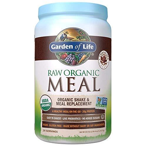 Garden of Life Meal Replacement - Organic Raw Plant Based Protein Powder, Chocolate, Vegan, Gluten-Free, 35.9oz (2lb 4oz/1,017g) Powder 1
