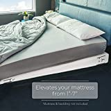 Avana Mattress Elevator - Under Bed 7-Inch Incline Foam Support, Includes White Cotton Cover, Queen