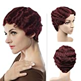 WIGNEE Remy Human Hair Wigs Mommy Short Style (Color 99J)