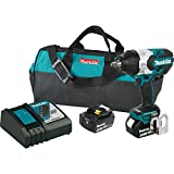 Makita XWT08M  LXT Lithium-Ion Brushless Cordless High Torque Square Drive Impact Wrench with Friction Ring Anvil Kit, 18V/1/2'
