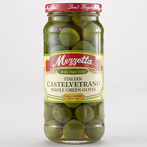 Mezzetta Italian Castelvetrano Whole Green Olives -- 10 oz - 2 pc