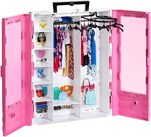 Barbie Armadio Fashionistas Rosa con Accessori, Bambola non Inclusa, Giocattolo per Bambini 3+ anni,...