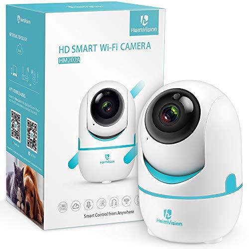 HeimVision ネットワークWIFIカメラ スマホ対応 300万画素 ペット監視カメラ 子供/ペット/老人見守り 動体検知自動追跡 暗視機能 双方向音声 安全対策WIFI/LAN-ケーブル対応 技適認証済み 日本仕様