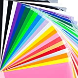 Bright Idea Supplies Heat Transfer Vinyl Bundle - 23 Sheet Pack of HTV...
