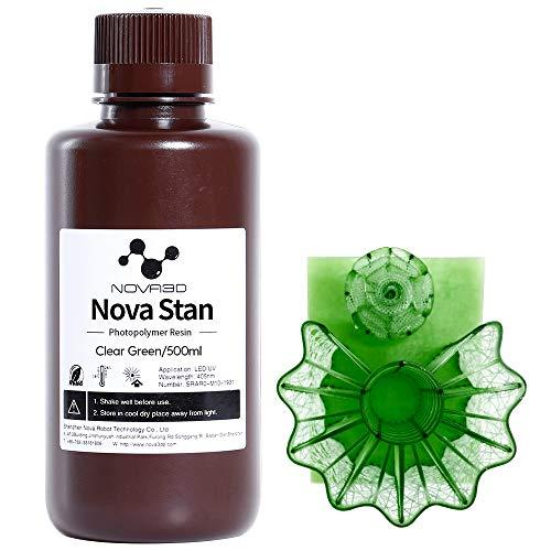 NOVA3D UV樹脂 405nm 光造形3Dプリンター専用 LCD 3Dレジン 光硬化可能、透明な緑、250ml