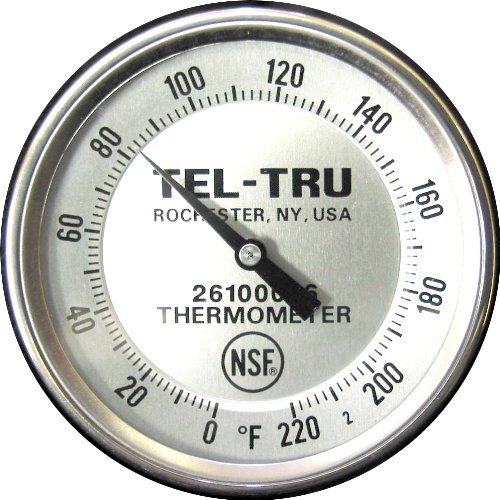 Tel-Tru BT275R Meat Cooking Thermometer, 2 inch dial, 5 inch stem, 0/220 degrees F