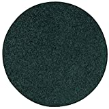 Ambiant Pet Friendly Solid Color Area Rug Forest Green -12' Round