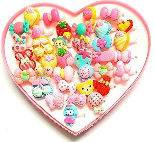 ANNA CREATIONS® Baby Girl Birthday rakshabandhan Gift Set of Finger Rings for Girls -36 Pieces (Pink)