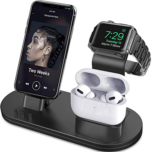 OLEBR 3 in 1 Charging Stand Compatible with iWatch Series...