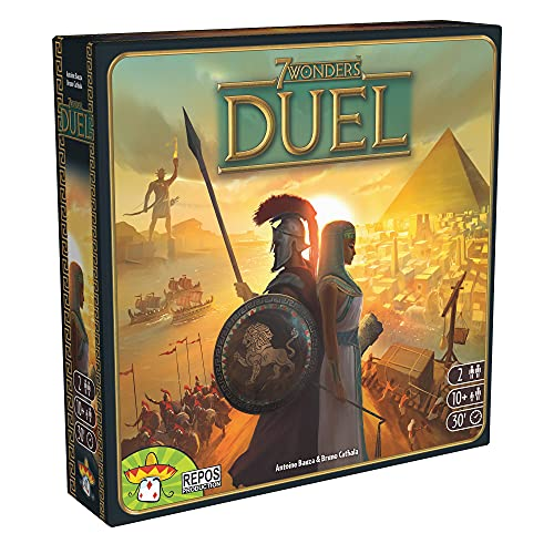 7 Wonders Duel Board Game (BASE GAME) | Board Game for 2 Players | Strategy Board Game |...