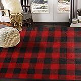 ALAZA Christmas Plaid Area Rug Rugs for Living Room Bedroom 7' x 5'