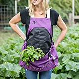 Roo Garden Apron - Garden, Kitchen and Harvest Smock with Bib, Storage Pockets and Canvas Collection...