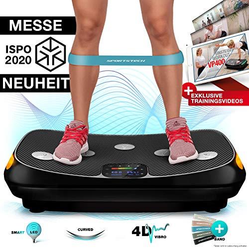 Sportstech | Gebogen ontwerp | 4D-trilplaat | Gekleurd touchscreen | Slimme LED-technologie