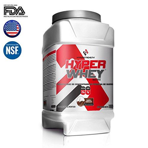 Proteína Concentrado de suero en polvo Hyper Whey Hyperstrength 4 lb Chocolate Suplemento Gym