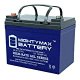 Mighty Max Battery 12V 35AH Gel Replacement Battery for Deep Cycle Solar 33Ah, 34Ah, 36Ah Brand Product