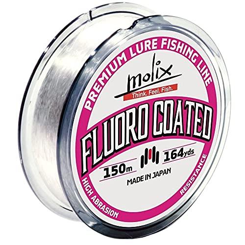 Molix Fluoro Coated, Fishing Line Unisex Adulto, Clear, 12 LB