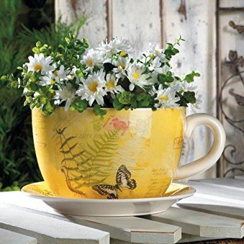 Garden Decor Large Garden Butterfly Teacup Planter
