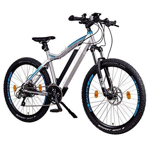 """NCM Moscow Plus Bicicleta eléctrica de montaña, 250W, Batería 48V 14Ah • 672Wh, 27,5"""" Plateado"""