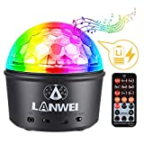 Donner Disco Ball Light, Bluetooth DJ Stage LED Strobe with Remote Control&Sound Activated &Wireless Phone Connection for Parties/Kids Bedroom/Birthday (Rechargeable 4W 9-Colors)
