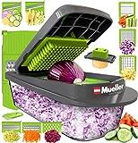 Mueller Heavy Duty Vegetable Chopper Dicer Mincer Mandoline Slicer - Food Chopper,Vegetable Slicer -Salad Chopper Veggie Chopper Vegetable Cutter Food Slicer 8 Blades