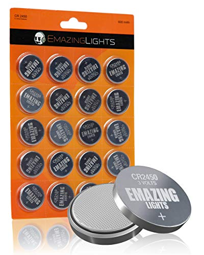 Emazinglights CR2450 Batteries 20 Pack 3V Lithium Button Cell Battery Pack