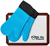 We The Planet Premium Pair of Silicone Oven Mitts with Oven Safe...