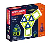 Magformers Classic (30-pieces) Set Magnetic Building Blocks, Educational Magnetic Tiles Kit , Magnetic Construction STEM Toy Set (Toy)