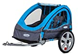 Instep Bike Trailer for Kids, Single and Double Seat, Double Seat, Blue