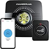 MyQ Smart Garage Door Opener Chamberlain MYQ-G0301 - Wireless & Wi-Fi enabled Garage Hub with Smartphone Control, 1 Pack, Black