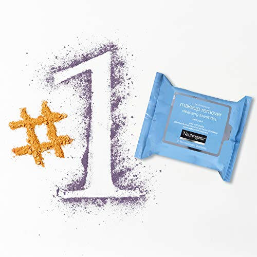Neutrogena Makeup Remover Facial Cleansing Towelettes, Daily Face Wipes to Remove Dirt, Oil, Makeup & Waterproof Mascara, Gentle, Alcohol-Free, 25 ct 10
