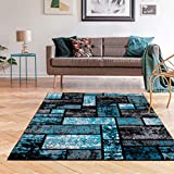 Luxe Weavers Tobis Collection Area Rug 1007 Turquoise 5x7