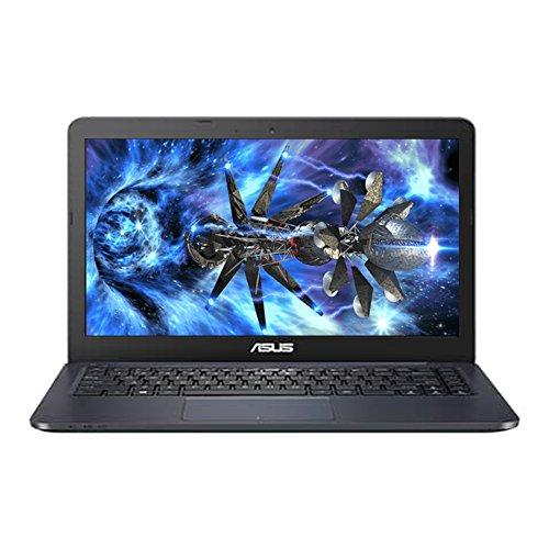 "ASUS Premium High Performance 14"" Full HD 1920x1080 Flagship Laptop Intel Celeron Dual Core-Processor 4GB RAM 32GB HDD HDMI WIFI WEBCAM 32GB Flash eMMC Storage Windows 10- Blue - Discontinued"