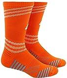 adidas Unisex-US Speed Mesh Basketball/Football Team Crew Socks (1-Pair), Collegiate Orange/White/Light Onix, 6.5-9