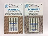 Bundle Schmetz Sewing Machine Needles for Stretch and Knitwear Fabrics-5 Each Stretch and Jersey Ball Point