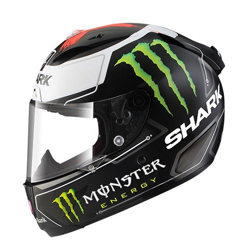 Shark Race-R PRO Lorenzo Monster Motorrad-Helm, Schwarz/Weiß, Größe M